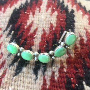 Navajo Turquoise & Sterling Silver Ear Cuff
